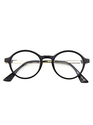 875d2ffc85cca1 CGID CN94 Klassische filigrane Retro Brille Damen Herren Hornbrille im  Vintage StilGlossy Schwarz. Classic Nerd