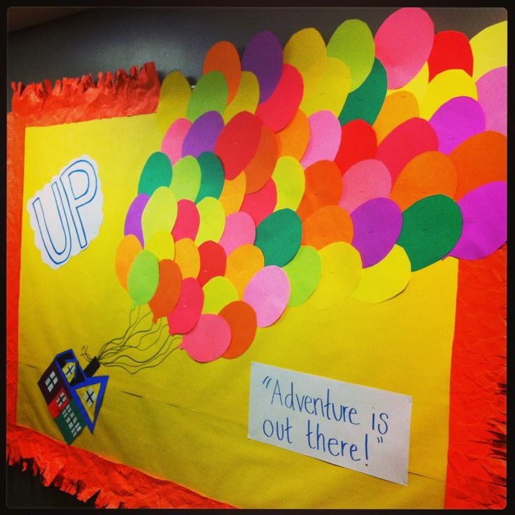 Up Themed Bulletin Board Quot Adventure Is Out There
