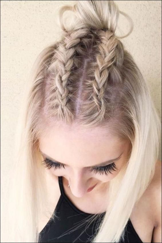 Beautiful Braided Hairstyle Ideas for Short Hair – New Hairstyle Style … | Hairstyles Women ☃️ #Christmas decoration #Christmas decoration #Christmas # …