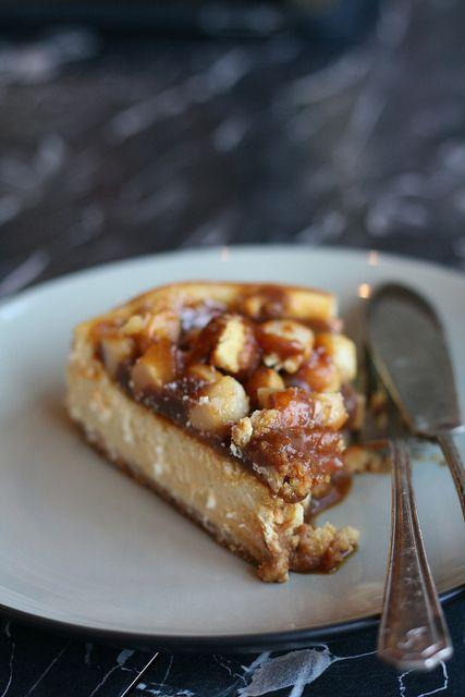 Ottolenghi caramel and macadamia cheesecake