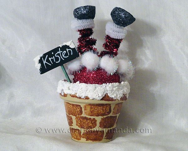 www.craftsbyamanda.com: Crafts Ideas, Christmas Crafts, Holidays Crafts, Chimney Places, Clay Pots Crafts, Clay Pot Crafts, Santa Chimney, Places Sets, Christmas Ideas