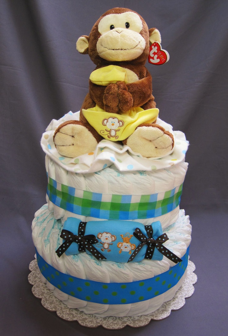 17 best images about monkey baby shower on pinterest sock monkey baby baby shower themes and - Baby shower monkey theme cakes ...