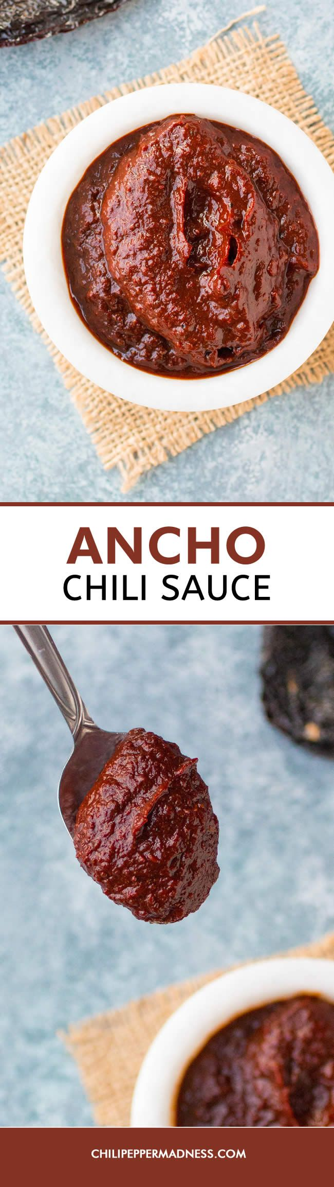 Ancho Chili Sauce - This easy-to-make red chili sauce recipe is a flavor POWERHOUSE and essential for Mexican or Tex-Mex cuisine, made with lightly toasted ancho peppers. Perfect for enchiladas, chilaquiles, tacos and so much more.
