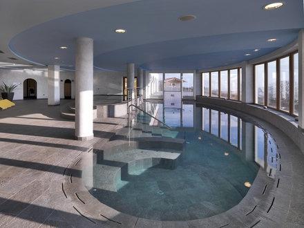 Swimmingpool Area Al Sole Hotel Beauty  Vital Fai della Paganella Trentino Italy