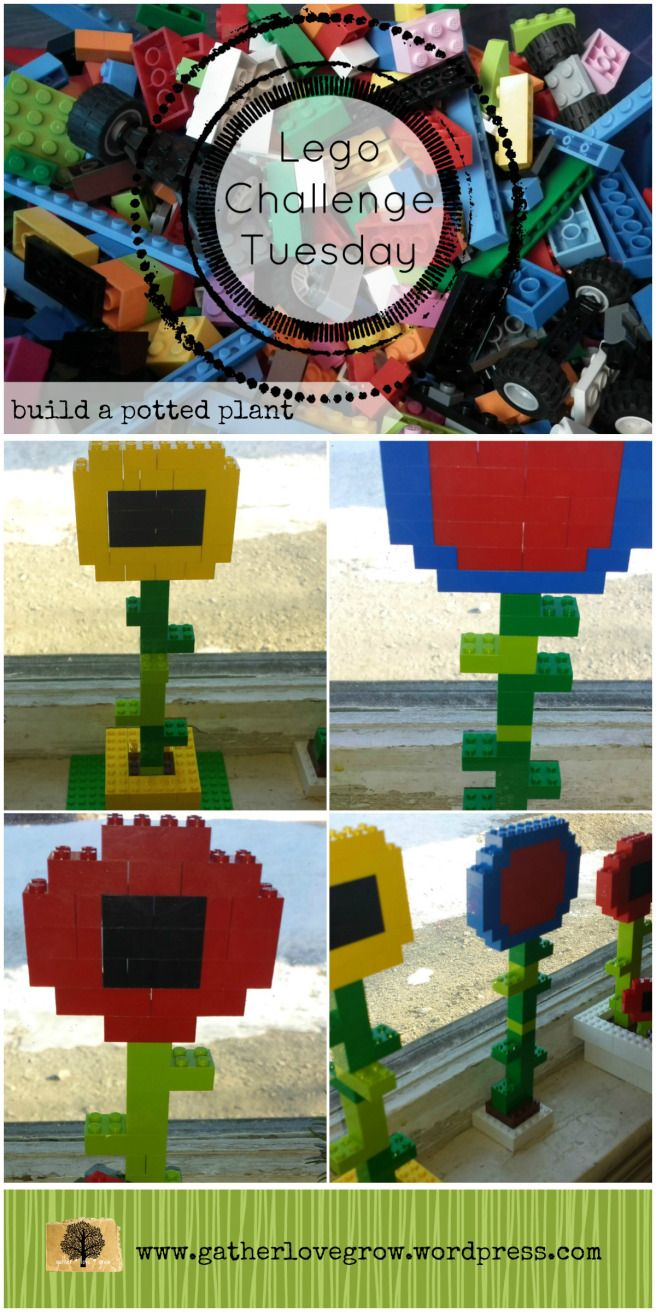 Lego Challenge Tuesday-potted plant - gatherlovegrow