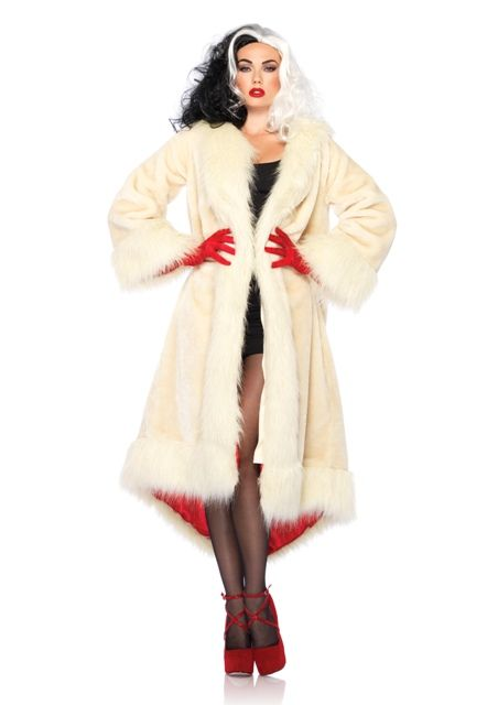 Cruella Coat Disney Villian Costume