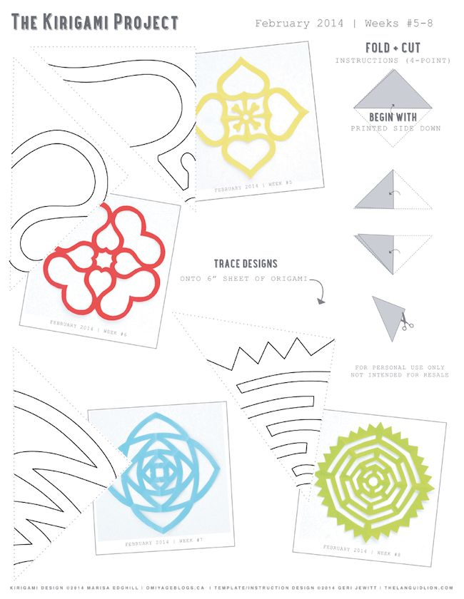 Omiyage Blogs: The Kirigami Project - free printable templates
