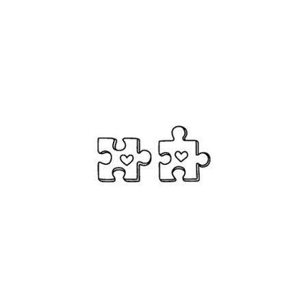 Tattify Puzzle Piece Temporary Tattoo - Puzzled (Set of 2)