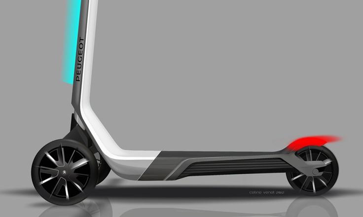 ce concept de trottinette lectrique trois roues est con u pour revisiter le concept de. Black Bedroom Furniture Sets. Home Design Ideas
