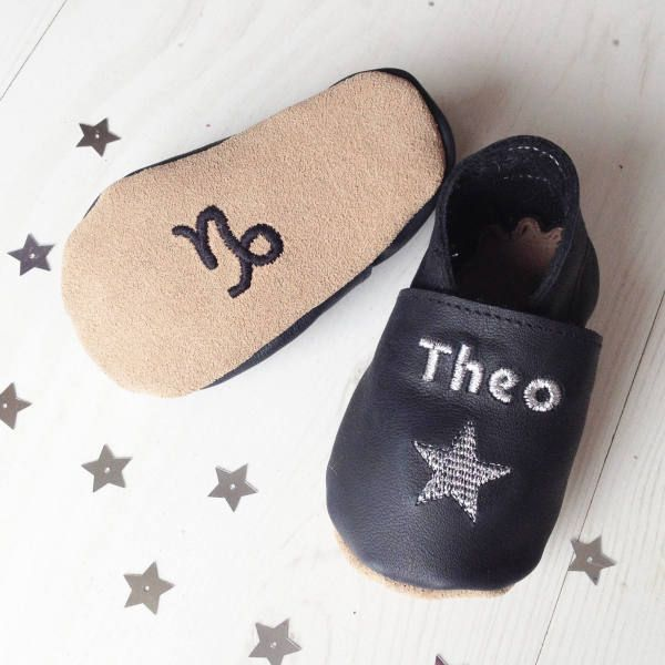 Personalised zodiac star sign constellation baby shoes