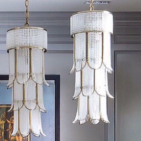 Crystal flower chandelier by PrestigeChandelier on Etsy