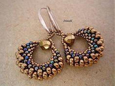 Beaded earring. Taštička malá V. by IrenaK - SAShE.sk - Handmade Náušnice