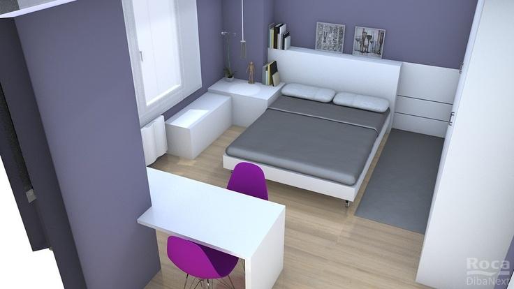 Proyecto 3D de reforma en dormitorio