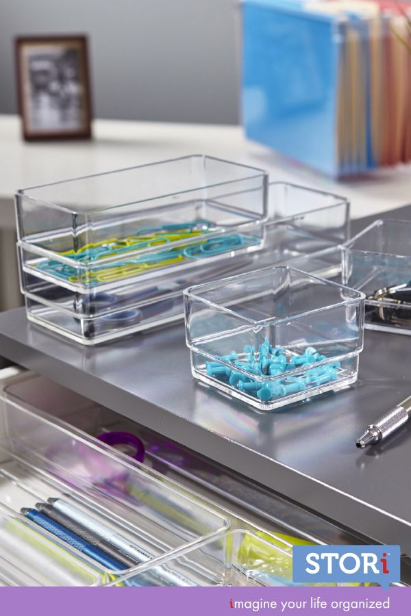 Set Of 6 Desk Drawer Organizers Organized Desk Drawers Desk