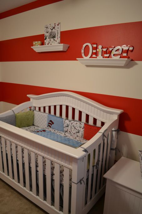 dr seuss nursery ideas | Oliver's Dr. Seuss, Dr. Seuss nursery for our little boy Oliver. Trend ...
