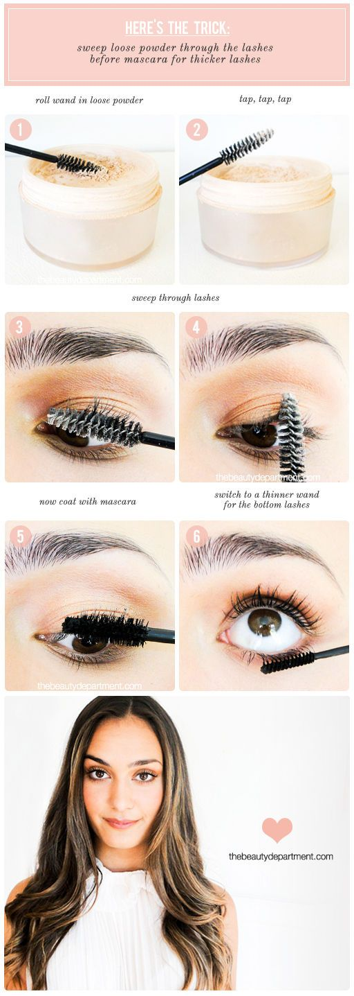 This is one of the oldest tricks in the books but it's often skipped because of time (I totally get it). If you do have an extra minute and want the most output from mascara that you can get, try this! Applying powder before mascara really helps thicken each lash hair which, in turn, really...