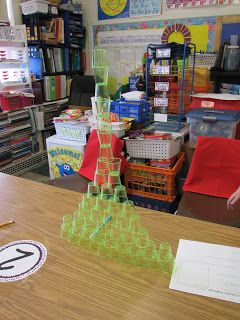 What is the tallest structure you can make using 48 tiny glasses in  only 20 minutes?