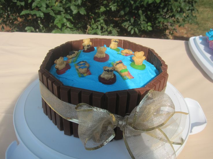 Cake Decorations For Pool Party : 26 best images about Pool Party Ideas on Pinterest ...