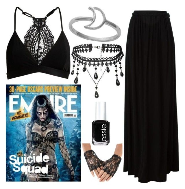 """""""Enchantress~"""" by jessi666 ❤ liked on Polyvore featuring Just Cavalli, Midsummer Star, Essie, DC and SuicideSquad"""