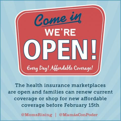 Open enrollment for the health insurance marketplace starts today! | MomsRising's Blog http://www.momsrising.org/blog/open-enrollment-for-the-health-insurance-marketplace-starts-today
