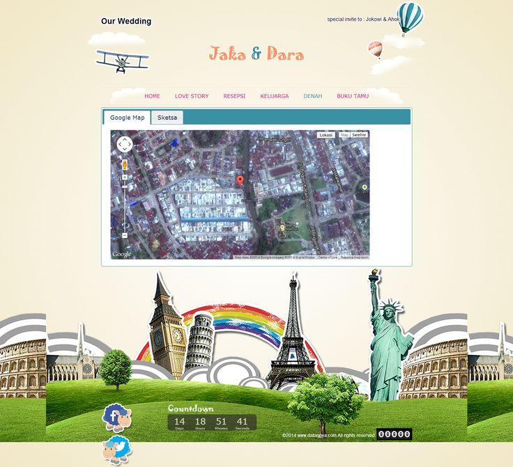 Undangan Pernikahan Online : Desain undangan online Datangya - Holiday Session