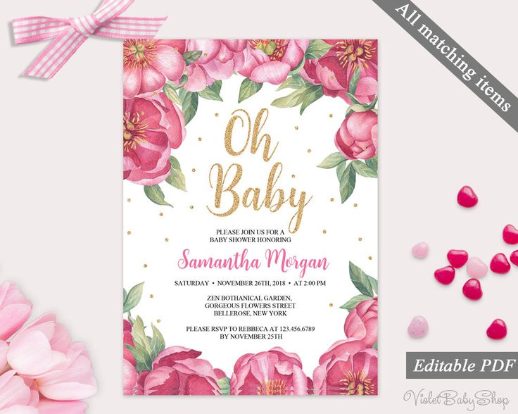134 best Baby Shower Invitations images on Pinterest Pdf, Baby - editable baby shower invitations