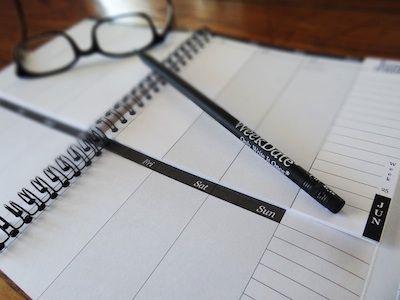 Agenda - WeekDate planners: papieren agenda met wekelijkse/dagelijkse activiteiten