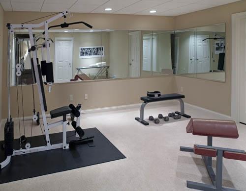 Home Home Gym Mirrors Home Gym Design