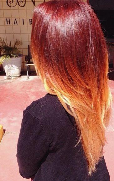 Copper red color melt