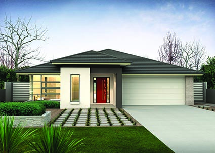 Kentville 25 // Single storey home design complete with a gourmet kitchen and walk-in pantry, a spacious open-plan family room and four generous sized bedrooms