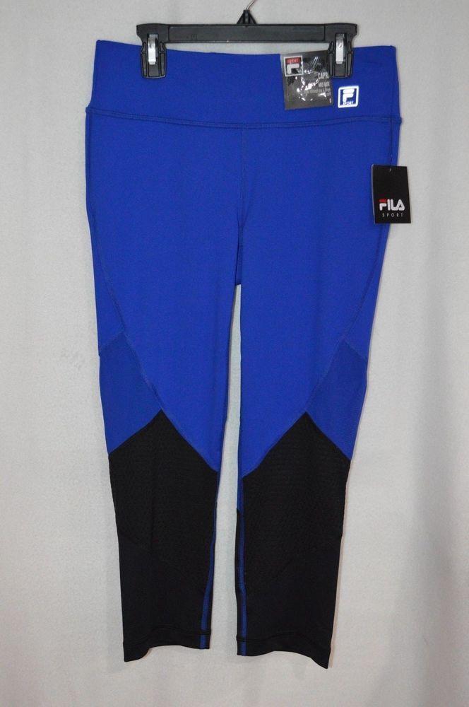 6629cf5393a69 FILA SPORT Women's Cobalt / Black Mesh Inset Capri Leggings - Size S - NWT  #fashion #clothing #shoes #accessories #womensclothing #activewear (ebay  link)