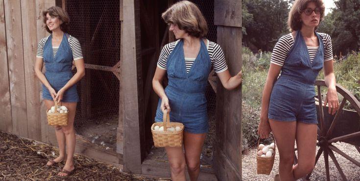 Entrepreneur and author Martha Stewart in Westport, Connecticut, 1976.