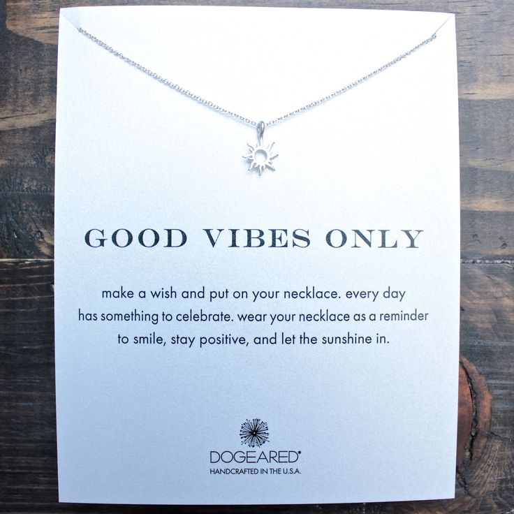 "dogeared ""Reminder - Good Vibes Only"" 16"" dainty necklace in sterling silver"