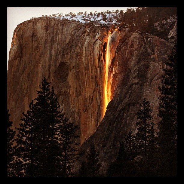 Ribbon of Fire in Yosemite