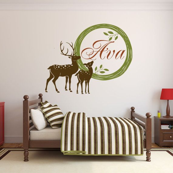 Personalized Deer Decal Hunting Wall Decal Deer By SignJunkies