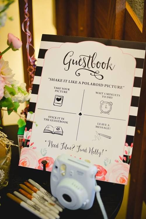 Kate Spade Inspired Bridal Shower | Creative, Guest books ...