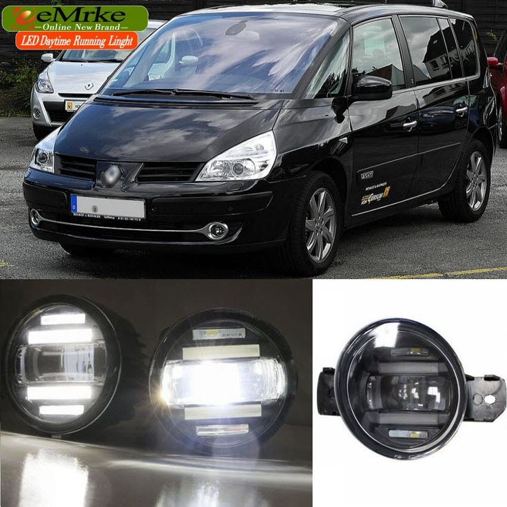 158.00$  Watch now - http://alittv.worldwells.pw/go.php?t=32673219776 - eeMrke Xenon White High Power 2in1 LED DRL Projector Fog Lamp With Lens For Renault Espace 4 IV 2002-2014