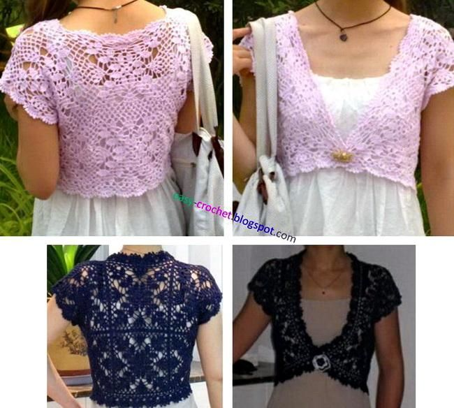 Crochet patterns: Free Crochet Pattern for Summer Wedding Shrug for Brides and Bridesmaids