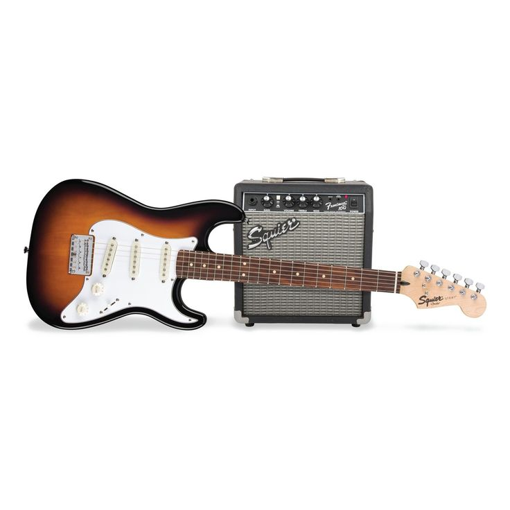 Fender Squier Strat Pack SS Short-Scale Electric Guitar Pack Sunburst at Gear4music.com