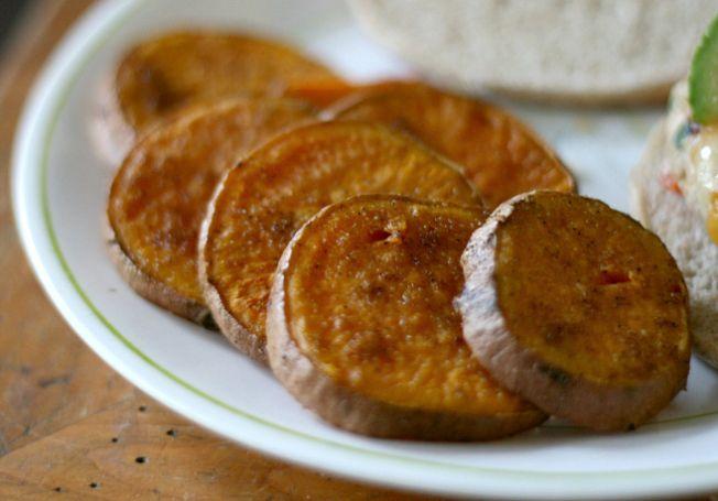 Sliced Baked Sweet Potatoes   Hungry Hannah