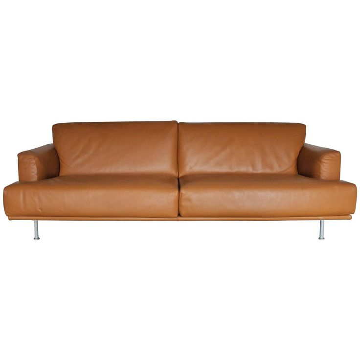 """Cassina """"253 Nest"""" Seat Sofa in Tan """"Pelle Naturale"""" Leather by Lissoni 1"""