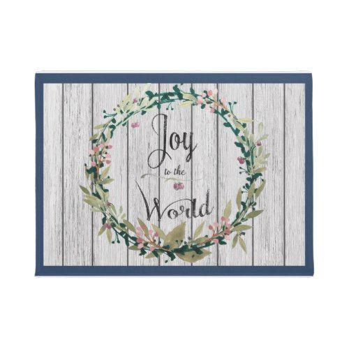 Joy to the World Country Rustic Doormat
