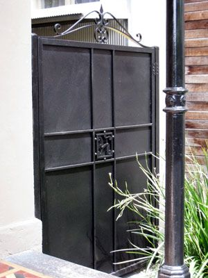 8 best Ideas for solid metal gate for courtyard images on ... Solid Iron Gates