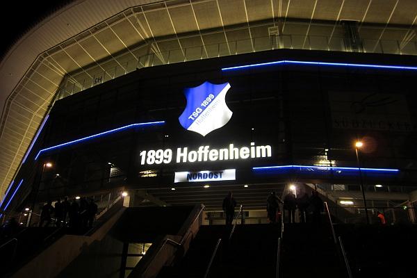 Rhein Neckar Arena Sinsheim,  TSG Hoffenheim - SC Freiburg 1 - 1  German Bundesliga