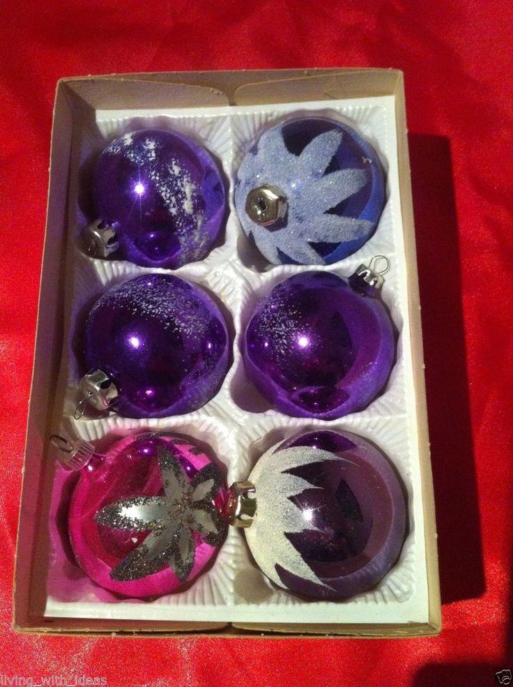 Die besten 25 christbaumkugeln glas ideen auf pinterest christbaumkugeln aus glas - Christbaumkugeln lila ...