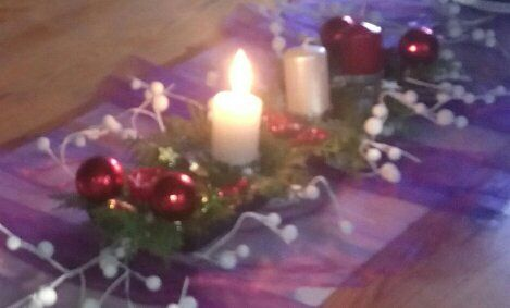 ozdoba vánočního stolu