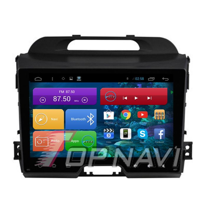 9'' Quad Core Android 4.4 Car GPS for KIA Sportage R With Stereo  Radio Map 16GB Flash Mirror Link Audio Wifi BT Free Shipping