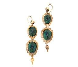 Victorian scarab earrings