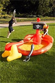 Inflatable Pirate Ship Pool - Attention again Santa Claus lol.