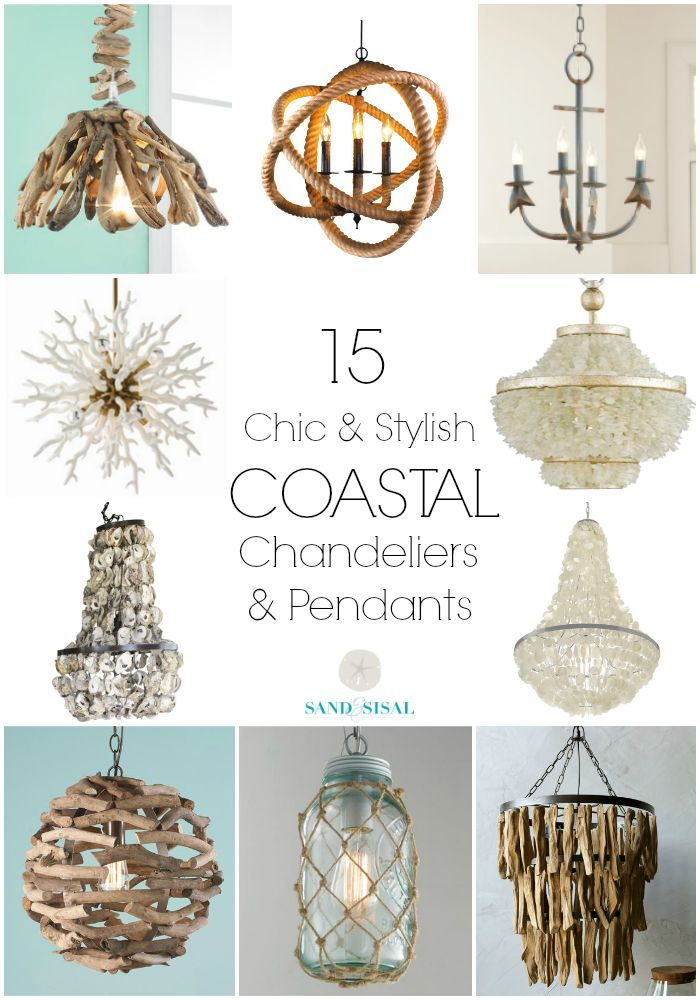 15 Coastal Chandeliers and Pendants